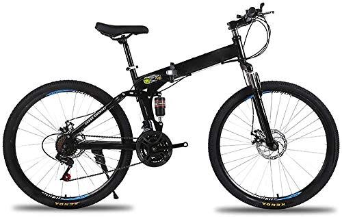 Bicicleta plegable de 26 pulgadas Bicicleta de montaña plegable Bicicletas de montaña para adultos Bicicletas al aire libre Bicicletas ruedas negro