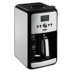 top rated Programmable Digital Coffee Machine KRUPS EC314, 12 Cups, Silver 2021