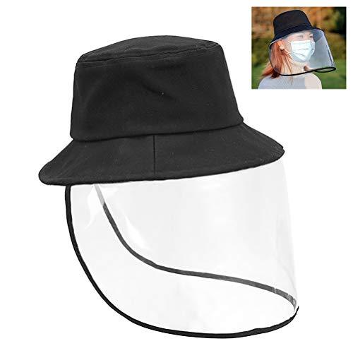 Protecci/ón de Ojos Y Cabeza Gorra de Visera para Cara de Seguridad de Protecci/ón sombrero de Pescador Pantalla de Protecci/ón de Cara de PVC Sombrero Protector Facial