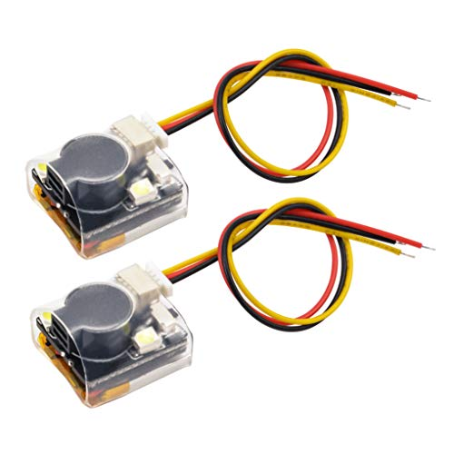 FPV Drone Finder Buzzer RC Signal Loss Tracker with 2 LED Lights for FPV Racing Drone and RC Plane(2PCS)