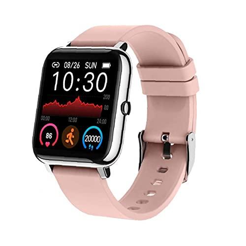 RRunzfon Inteligente Reloj Pulsera rastreador de Ejercicios Actividad podómetro P22 Pink Heart Rate Impermeable para Hombres, Mujeres Android, Elegante Reloj de los Deportes al Aire Libre