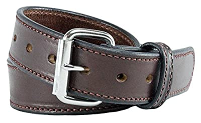 Relentless Tactical The Ultimate Concealed Carry CCW Leather Gun Belt - New and Improved - 14 Ounce 1 1/2 inch Premium Full Grain Leather Belt - Handmade in The USA! Brown Size 34