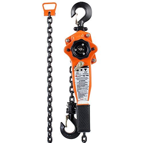 Amarite Manual Lever Chain Hoist, 10 feet Load Chain with 1650lbs Capacity … …
