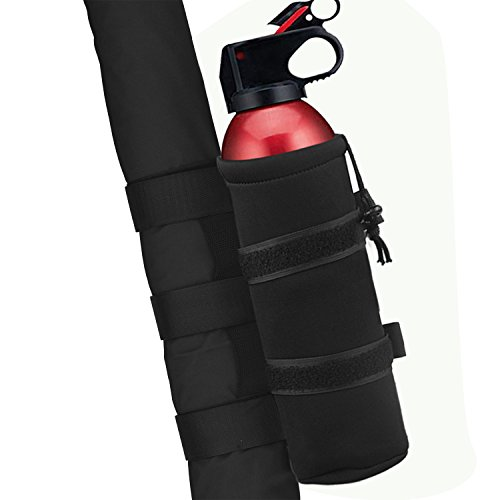 1PC Black Roll Bar 2.5 lb Fire Extinguisher Holder Bag for Jeep Wrangler Car Truck 4x4 UTV Vehicle Extinguisher Strap Mount Bracket Strap
