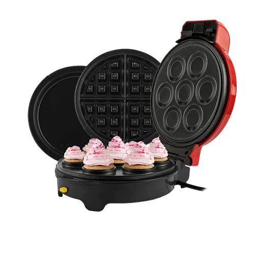 Máquina Cupcakes Crepeira E Waffle Mickey Mallory 5 Em 1