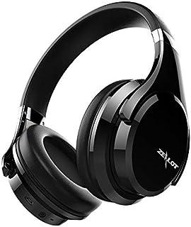 SXFJF Inalámbrica Bluetooth Auriculares Estéreo Bajo Profundo Cancelación De Ruido Auriculares Plegables Auriculares Gaming Ajustable con Micrófono para PC/Teléfonos Celulares/TV,Black