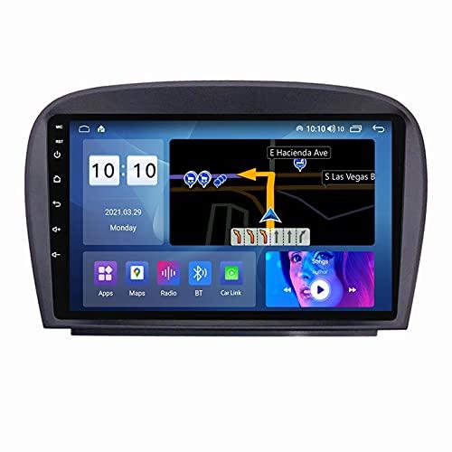 ADMLZQQ 2din Android Autoradio 9' Radio De Coche Car Radio EstéReo De AutomóVil para Mercedes-Benz SL R230 con SWC/Carplay/Dsp/BT/FM Am/USB*2+ Telecamera Posteriore,M150S4core2+32