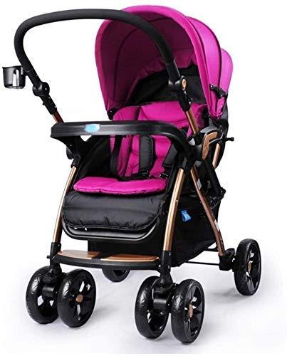 2021 New Triciclo Triciclo para niños Elegante Cochecito de bebé Ligero Plegable Amortiguador Carrito de bebé para viajes Adecuado para niños Cochecito de bebé Triciclo Silla de empuje para niños (Col