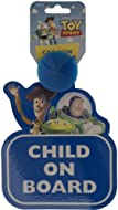 Toy Story on board car sign Sign reads 'Child on Board' Dimensions: 20cm x 15cm x 1.5cm