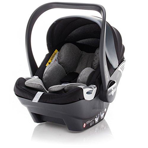 ZOPA Babyschale X1 Plus i-Size - Kinderautositz Gruppe 0+ bis 13 kg - mit Seitenaufprallschutz SIP - kompatibel mit 80% der Kinderwagen - TÜV Nord geprüft (Farbe: Rocky Grey)