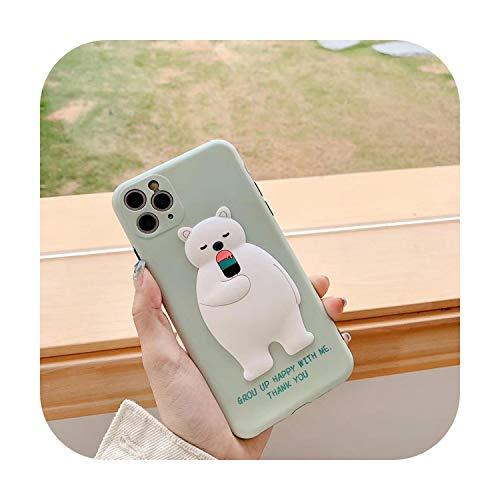 Carcasa para iPhone X XS XR 11 Pro Max, diseño de animales 3D, suave para iPhone 7, 8Plus, SE2, Capa, regalo