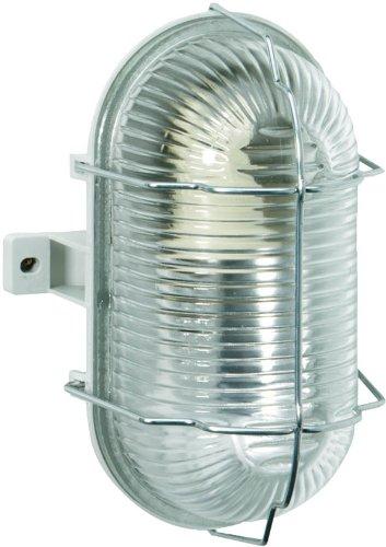Brennenstuhl Ovalleuchte Color/Lampe für Außen - und Innenbereich (spritzwassergeschützte Leuchte zur Decken- und Wandmontage, IP44) Farbe: grau, 1270120, 1 - Pack