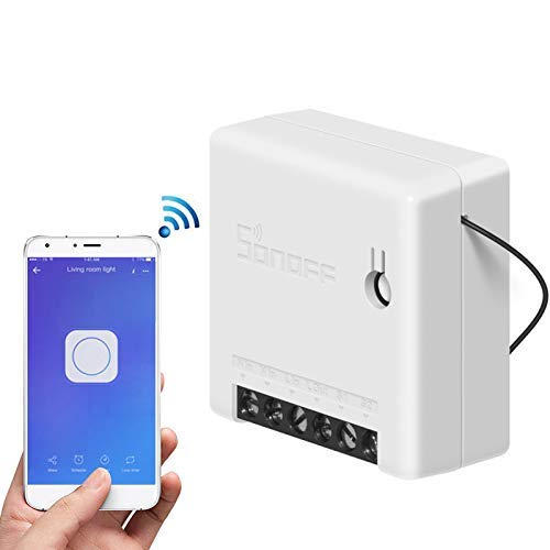 1pcs Interruttore SONOFF MINI Fai-da-te Smart Switch Piccolo corpo Telecomando Interruttore WiFi Supporto Interruttore esterno Funziona con Google Home/Nest IFTTT e Alexa (1pcs)
