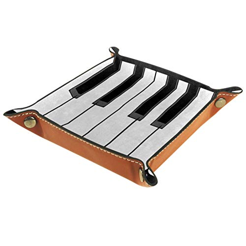Bandeja de Cuero Teclas de Piano de música Negro Blanco...