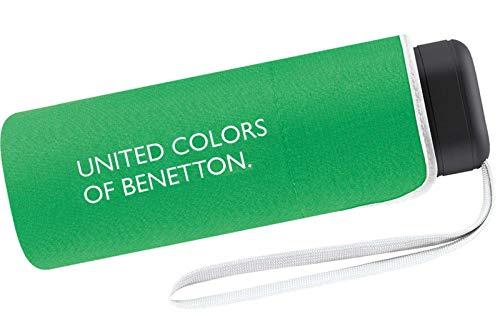 Paraguas Ultra Mini Mujer Manual United Colors of Benetton, Ocho Varillas, 88 cm de diámetro. Color Verde.