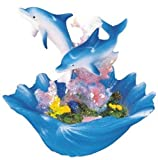StealStreet Marine Life Dolphin with Seashell Design Figure Decoration Collection