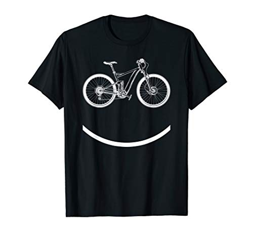 Bike Smiley Face Funny MTB Cycling Gift design T-Shirt