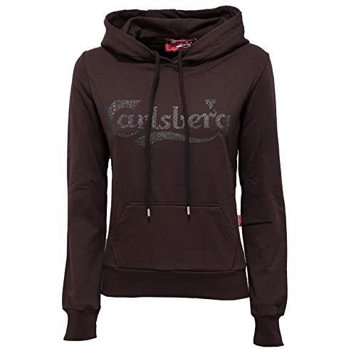 Carlsberg 7782K Felpa Donna Brown Cotton Sweatshirt Woman [XS]