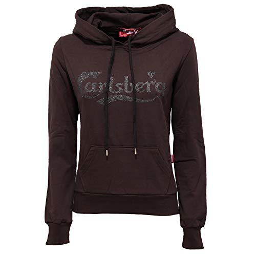 Carlsberg 7782K Felpa Donna Brown Cotton Sweatshirt Woman [XS]