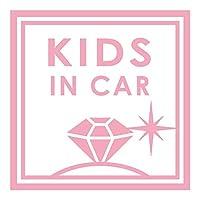 imoninn KIDS in car ステッカー 【パッケージ版】 No.26 ダイアモンド (ピンク色)