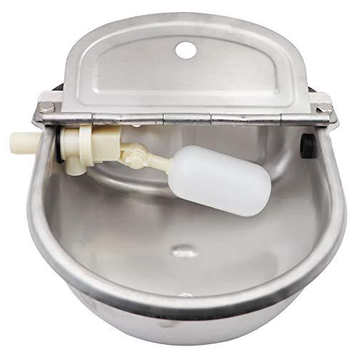 Probeeallyu, ciotola automatica per abbeveratoio per bovini in acciaio inox, con valvola galleggiante regolabile e foro di scarico, grande capacità