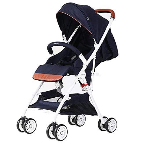 New XXDMZ Baby Stroller for Newborn and Toddler Convertible Compact Single Baby Carriage with High L...