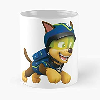 Paw Patrol Super Spy Chase Running Classic Mug - The Funny Coffee Mugs For Halloween, Holiday, Christmas Party Decoration 11 Ounce White Jamestrond.