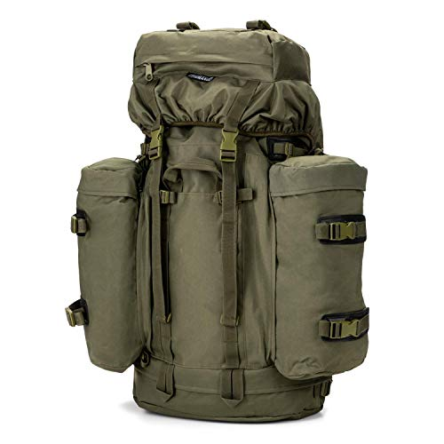 Commando Industries Army Mountain Rucksack Trekking Outdoor 100 Liter (Oliv)