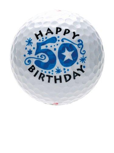 B9937 --- 50 ster Geburtstag --- Happy Birthday --- Golfball / Golf / Golfspiel / Platzreife