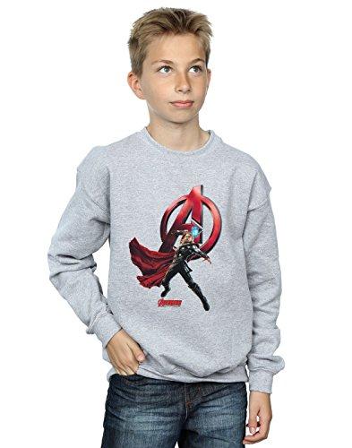 Marvel niños Thor Pose Camisa De Entrenamiento 5-6 Years Gris Sport