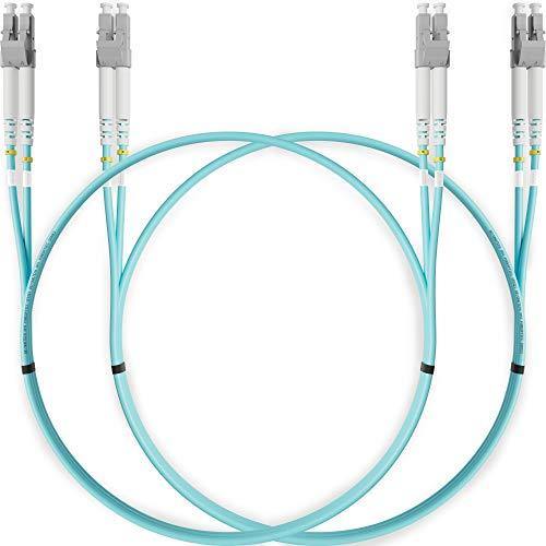 LC to LC Fiber Patch Cable Multimode Duplex - 2m (6.56ft) - 50/125um...