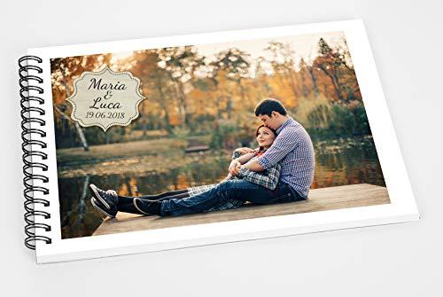 Guestbook matrimonio - libro dediche e auguri invitati personalizzato con la vostra foto