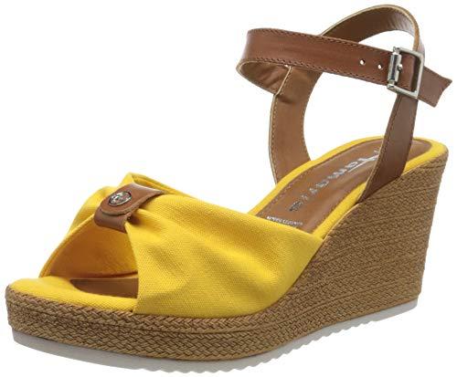 Tamaris 1-1-28341-24 638 dames open sandalen met sleehak