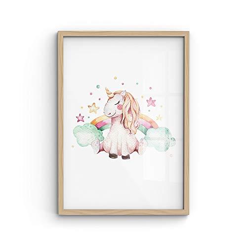 malango® A4-Poster Regenbogen-Einhorn
