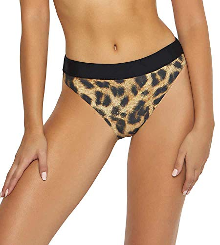 PilyQ Women's Jungle High Waist Bikini Bottom Jungle L