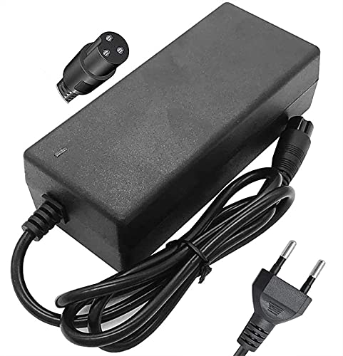 Cable de Carga para Hoverboard 42V 2A Cargador de batería para Dos Rollos Mini Scooter eléctrico Inteligente, Cargador Adaptador de Fuente de alimentación de energía rápida