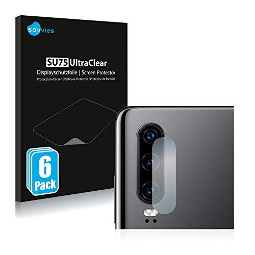 savvies 6-Pezzi Pellicola Protettiva Compatibile con Huawei P30 (Solo Camera) Protezione Schermo Trasparente