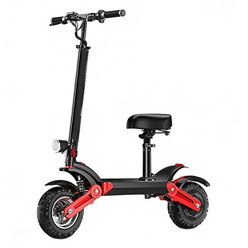 GJZhuan Scooter Eléctrico Patinete Plegable For Adultos, con Asiento Ajustable, 45 Km/H...