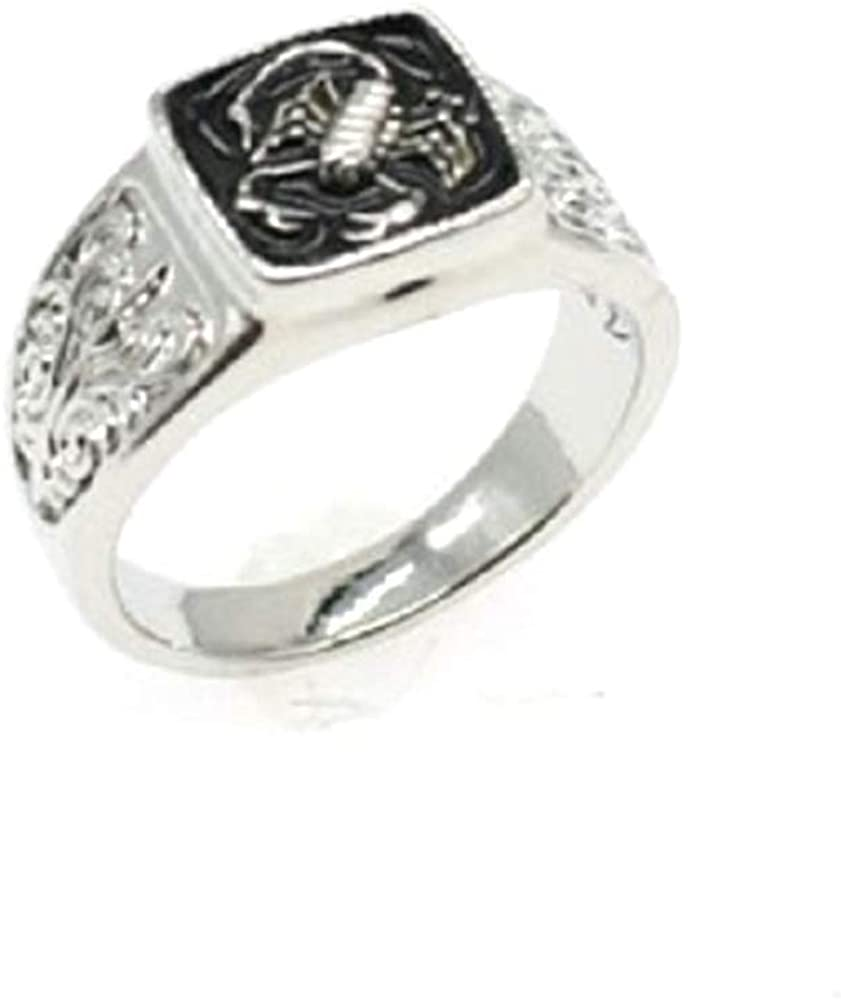 Punk Hip Pop Scorpion Ring for Men Cool Gothic Biker Rings Metal Rock Biker Bands Fashion Jewelry for Men Boy Size 6-10