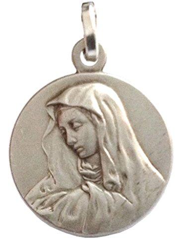 925 Sterling Silber Medaille Unserer Lieben Frau der Schmerzen ( Mater Dolorosa )