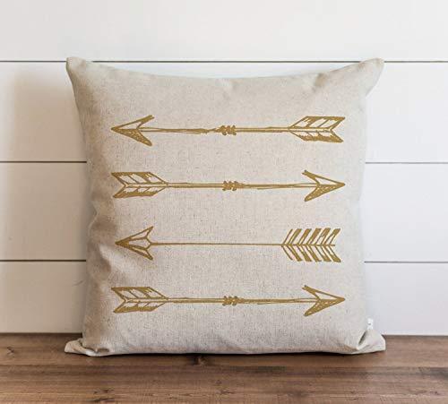Flechas - Funda de almohada con cierre oculto para sofá, banco, cama, decoración del hogar, 60 x 60 cm