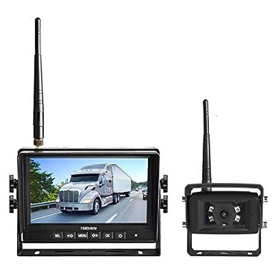Haloview MC7108 Wireless Backup Camera kit Built in DVR with Stable Digital Signal 7'' 720P HD Digital Monitor and IP69K Waterproof Rear View Camera for Truck/Trailer/RV/Pickups/Camping Car/Van/Farm