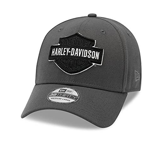 HARLEY-DAVIDSON 39THIRTY Baseball Cap Cappy Mütze Tonal Logo, Grau, S