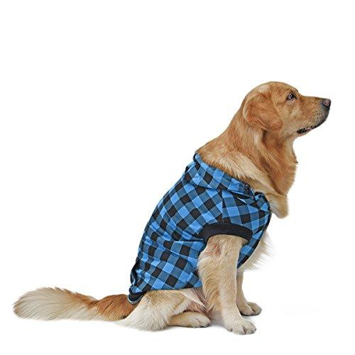 PAWZ Road Large Dog Plaid Shirt Coat Hoodie Pet...