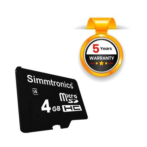 Simmtronics MicroSD 4 GB Class 10 Memory Card, 5 Years Warranty