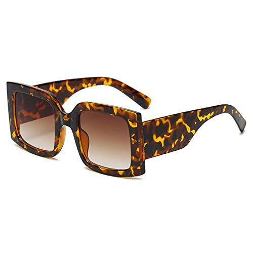NLJ-lug Gafas De Sol Marrones Cuadradas De Pierna Ancha Retro Para Mujer Gafas De Sol Vintage Para Hombre Gafas De Hip Hop Mujer Sahdes
