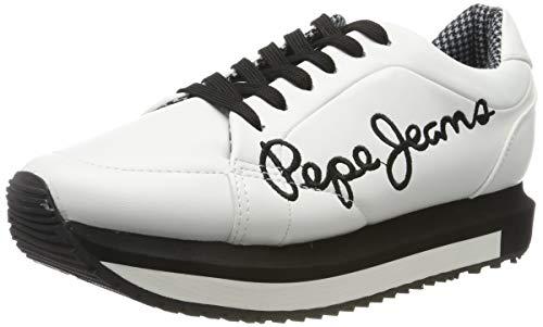 Pepe Jeans London Zion Smart, Zapatillas para Mujer, White 800, 41 EU