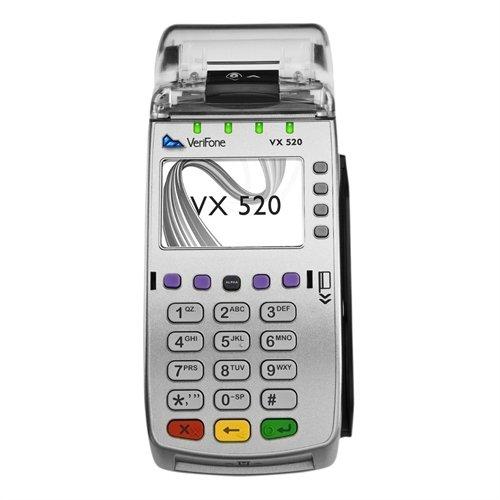VeriFone Vx 520 Dial/Ethernet Dual Communications, 160Mb, Terminal/Itegrated Printer/Internal PIN Pad -  M252-153-03-NAA-3