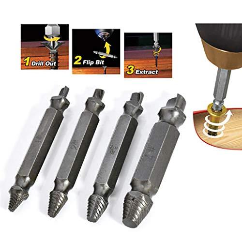 Makalon Speed Out Screw Extractor Bohrer Werkzeug defekter Bolzenentferner Abisolierte Schraube und beschädigter Bolzenauszieher für beschädigte oder beschädigte Schrauben
