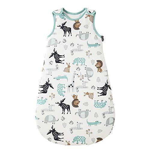 Saco de dormir para bebé de invierno, 2,5 tog, 100% algodón, diferentes tamaños, desde el nacimiento hasta la edad de 18 meses, todo el año (ponydeer, 0-6 meses)